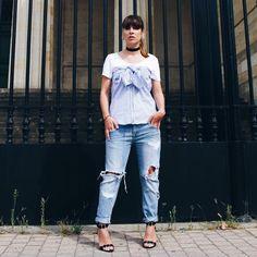#fashionbloggers #mode #ootd #stripes #shirt #zata #tendance #automne # #choker #autumn #trend #looks #nineties