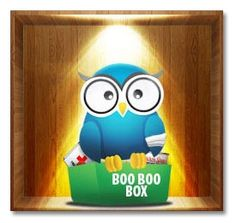 """The """"Boo Boo Box"""" -- AKA the next best thing when mom is too far away to make the boo boo feel better! This fun, unique get well #CarePackageForCollegeStudents will cheer them up & send them to a speedier recovery. To get well faster & have some fun while recovering, SendThemABox.com!"""