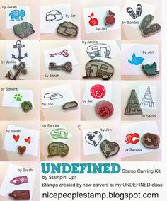 carving is so much fun! Love these stamps made by Allison Okamitsu's customers.