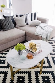Anímate a decorar tu living con diseños geométricos