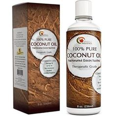 Oil Pulling Coconut Oil and Bad Breath Remedy: Excellent for Teeth Whi Best Coconut Oil, Natural Coconut Oil, Pure Coconut Oil, Coconut Oil For Skin, Natural Skin, Coconut Oil Massage, Massage Oil, Coconut Oil Hair Growth, Hair Loss