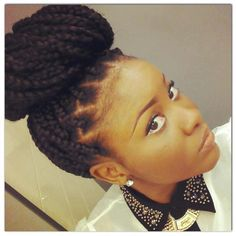 Would love to see this in twists..BOX BRAIDS / BUN / DOOKIE BRAIDS / PROTECTIVE HAIRSTYLE / DOOKIE BRAIDS / HAIRSTYLE / POETIC JUSTIC BRAIDS