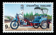 Thailand - Circa 1997: A Thai Postage Stamp