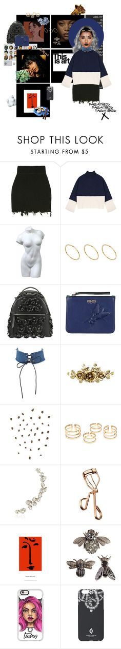 """""""my vibes being going to another level....."""" by pandatheod ❤ liked on Polyvore featuring ASOS, Fendi, Kenzo, Topshop, Ryan Storer, Tweezerman, Dsquared2, Casetify and County Of Milan"""