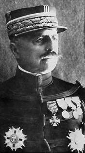 """Louis Félix Marie François Franchet d'Espèrey (25 May 1856 – 8 July 1942) was a French general during World War I. As commander of the large allied army based at Salonika, he conducted the successful Macedonian campaign which caused the collapse of the Southern front and triggered the armistice. British troops, unable to pronounce his name properly, nicknamed him """"Desperate Frankie."""""""
