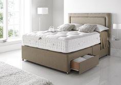Elite Natural 3500 Divan & Mattress - Open Coil - Divan Beds - Beds