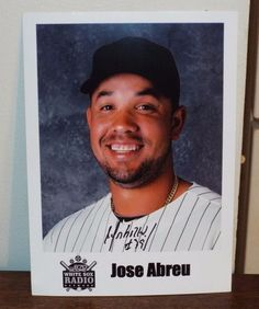 JOSE ABREU Autographed Signed Photo - WHITE SOX Radio Photo - Signed in Person!