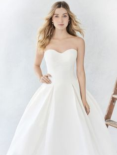 Ella Rosa Style BE374 | classic and clean mikado gown | romantic wedding dress | bridal gown