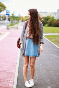 circle skirt and sweater combo