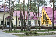 Здание кафе на территории санатория. (Беларусь, Outdoor)