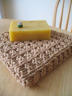 Have you ever used a handknit washcloth... best face washing ever, and you can whip up a few in an afternoon. My husband is addicted!