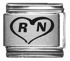 RN Heart Laser Italian Charm Clearly Charming. $3.99. Save 60%!