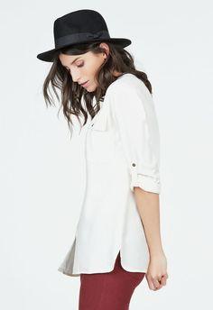 Cargo Boyfriend Blouse Kleidung in Dark Olive - günstig kaufen bei JustFab
