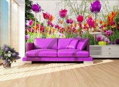 Ilustrativní foto Outdoor Sectional, Sectional Sofa, Couch, Outdoor Furniture, Outdoor Decor, Wallpaper, Home Decor, Ideas, Tulips