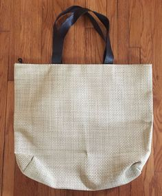 CHILEWICH Beige Woven Tote Bag / Purse, Never Used, No Longer Made, No Reserve #Chilewich #TotesShoppers