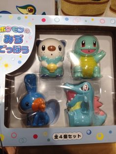 Pokemon Photos from Tokyo - Squirtle Totodile Mudkip Oshawott squirt toy
