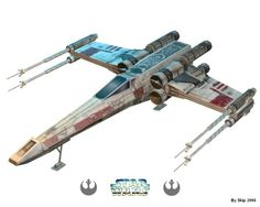 STAR WARS - X-Wing Starfighter by J. Leslie via Papermau FREE SITE; PERSONAL USE ONLY