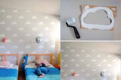 """Manualidades para niños: """"Esténcil de nube"""""""