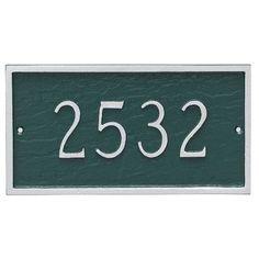 Montague Metal Products Classic Petite Address Plaque Finish: Black/White