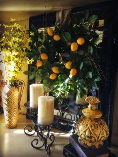 Colorful Tuscan Vignette!  I love the lemon wreath!