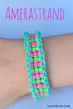 How to Make a Rainbow Loom Amerastrand Please Follow and Repin!
