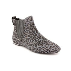 JUICY COUTURE Grey Mini Cheetah Print Haircalf Leather Ankle Boots 6.5