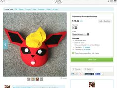 Go get flareon from Pokemon at        https://www.etsy.com/shop/BlankArtistCrafts?ref=hdr_shop_menu