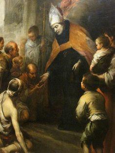Bartolome Esteban Murillo, St. Thomas of Villanueva Giving Alms to the Poor, 1678, detail by arthistory390, via Flickr