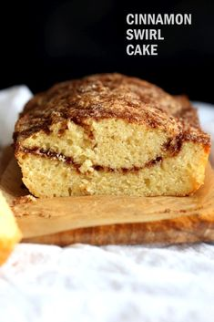 This Vegan Cinnamon Swirl Cake is super Easy and Quick. A simple yellow cake, swirled with cinnamon sugar makes for a delightful treat. Add some nuts into the swirl for variation, Or make into cupcakes. Glutenfree option #Vegan #Nutfree #Soyfree #Dessert #Recipe #veganricha   VeganRicha.com