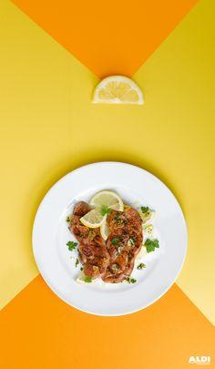 Al ajillo y con un toque de limón #chuletas #pavo