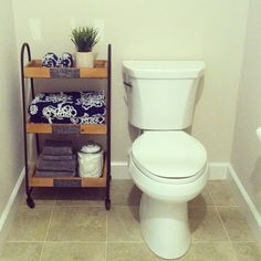 Perfect fit for this small half bath!