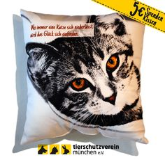 """Spendenkissen """"Katzenmädel Betty"""" bei www.dayogo.de"""