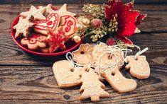 Download wallpapers Christmas, biscuits, sweets, pastries, 2018, New Year