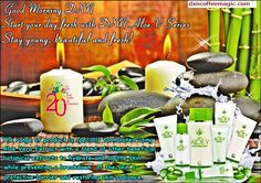 Rise and shine, Good morning DXN!  The finest selection of Aloe Vera in DXN Aloe Product Family for everlasting youth and beauty. Do not forget to take DXN RG and DXN GL daily for your balanced body PH! Outside treatment does not substitute giving your body what it needs.