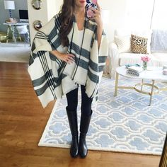 Southern Curls & Pearls   Poncho less than $40