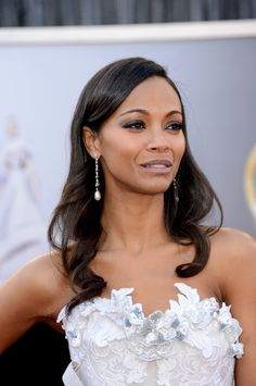 Stunning Hollywood Zoe Saldana ...Snappy Hairstyles... She starred as Vanessa in Blood Ties (2013)