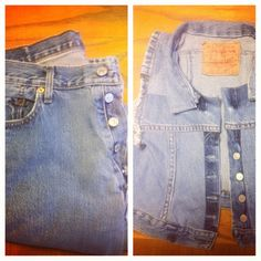 Old jeans to vest