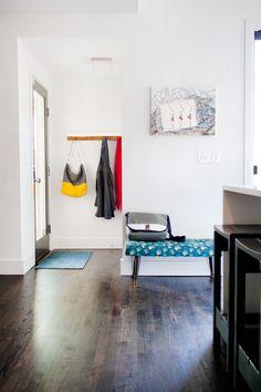 simple dark floors and white walls. love it