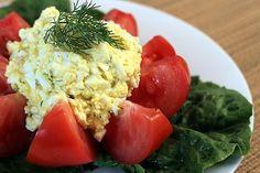 Healthy Egg Salad using Greek yogurt. From TheYummyLife.com