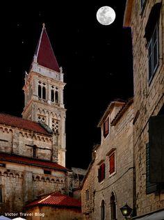 Trogir at night, Croatia.