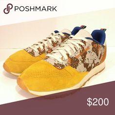 Rare Reebok x Bodega Sneakers camo 10.5 Reebok x bodega 10.5 mustard yellow camo blue Good preowned condition Desert camo Reebok Shoes Sneakers