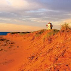 Red sand beach in Prince Edward Island