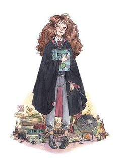 Hermione by esther gili art en 2019 гарри поттер, рисунки y Harry Potter Fan Art, Harry Potter Magic, Harry Potter Drawings, Harry Potter Hermione, Harry Potter Pictures, Harry Potter Facts, Hogwarts, Megan Hess, Harry Potter Ilustraciones