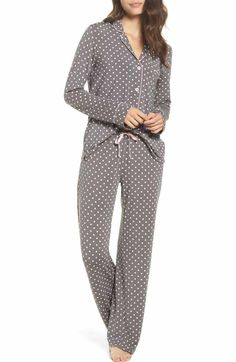 Free shipping and returns on Nordstrom Lingerie Moonlight Pajamas at Nordstrom.com. Contrast piping outlines classic menswear-inspired PJs that pair a feminine swing top with soft, fluid pants to complete the set.