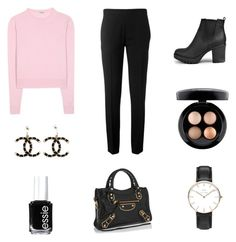 """Classy"" by isabellalausten ❤ liked on Polyvore featuring Miu Miu, Chloé, Boohoo, MAC Cosmetics, Daniel Wellington, Chanel, Essie and Balenciaga"