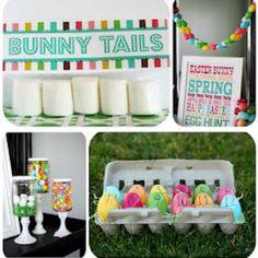 Fun stuff for preschool Easter party from http://eighteen25.blogspot.com