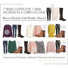 This is a travel packing list for a cold weather vacation using a carry-on only. Pack light with travel tips from travelfashiongirl. This is Part 2 of a three-part cold weather packing series! Never check a bag again! Carry On Packing, Packing List For Travel, New Travel, Travel Style, Travel Tips, Packing Ideas, Travel Ideas, Packing Checklist, Travel Fashion