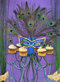 Peacock Mardi Gras Party Ideas | Photo 15 of 37 | Catch My Party