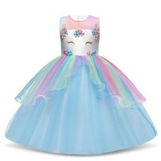 Halloween Girls Unicorn Dress Baby Fancy Princess Costume For Kids Girl Birthday Party Dresses Teens Children Tutu Gown 8 10 Party Gown Dress, Girls Party Dress, Birthday Dresses, Baby Dress, Party Dresses, Costume Dress, Gowns For Girls, Wedding Dresses For Girls, Dresses For Teens
