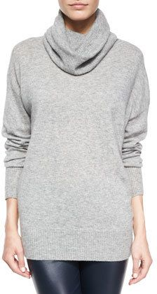 THE ROW Superfine Cashmere-Blend Slouchy Turtleneck  Sweater  Can't afford this... Nevertheless, so cute!